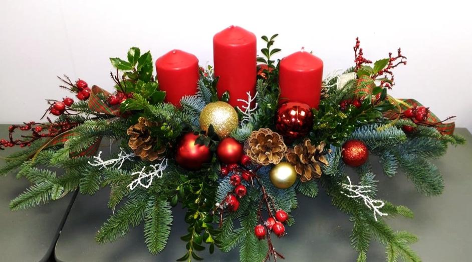 Warsztaty florystyczne, ozdoby świąteczne