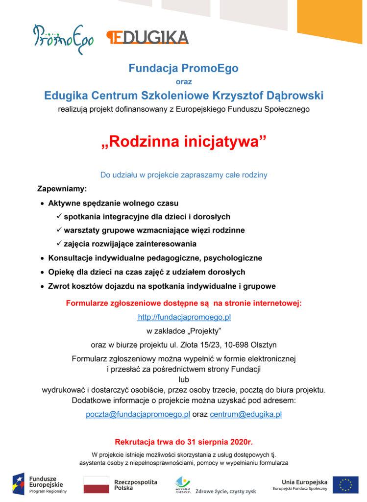 Plakat rekrutacyjny Rodzinna inicjatywa 1 749x1024